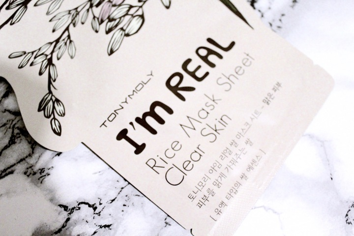 TONY MOLY I'm Real Rice Mask Sheet For Clear Skin |REVIEW